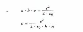 สมการ ความเร็วของ electron หมุนตามความสัมพันธ์